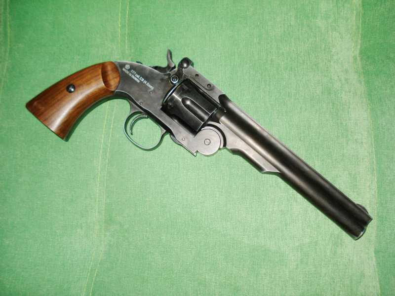 4)Пневматический пулевой револьвер ASG Schofield-6, его достоинства и недостатки