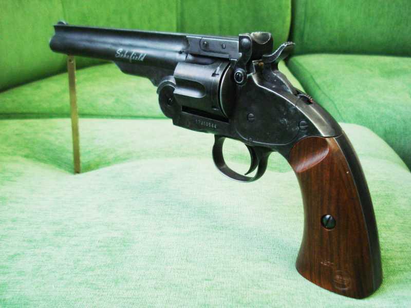 5)Пневматический пулевой револьвер ASG Schofield-6, его достоинства и недостатки
