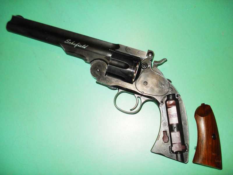 32)Пневматический пулевой револьвер ASG Schofield-6, его достоинства и недостатки