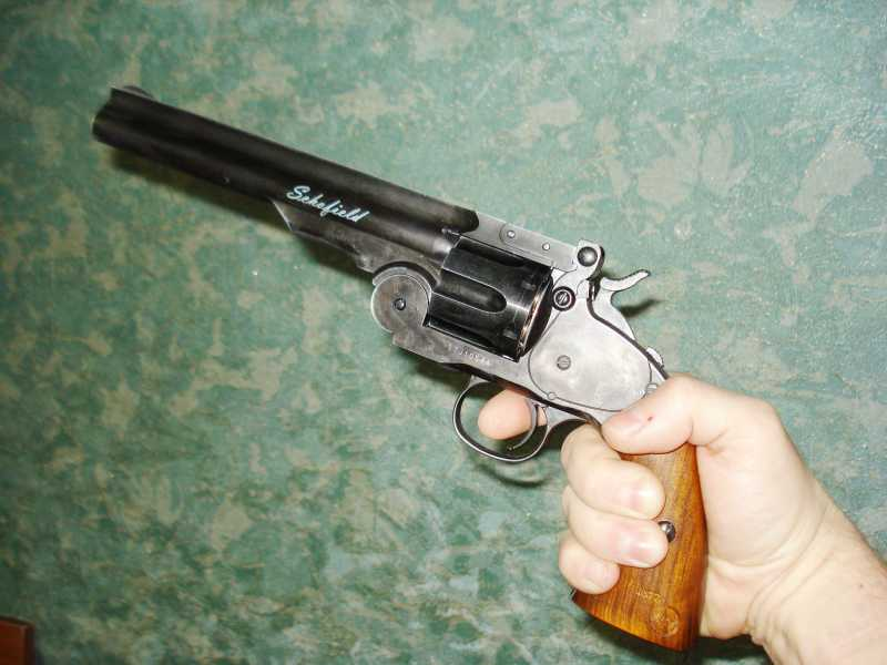 7)Пневматический пулевой револьвер ASG Schofield-6, его достоинства и недостатки