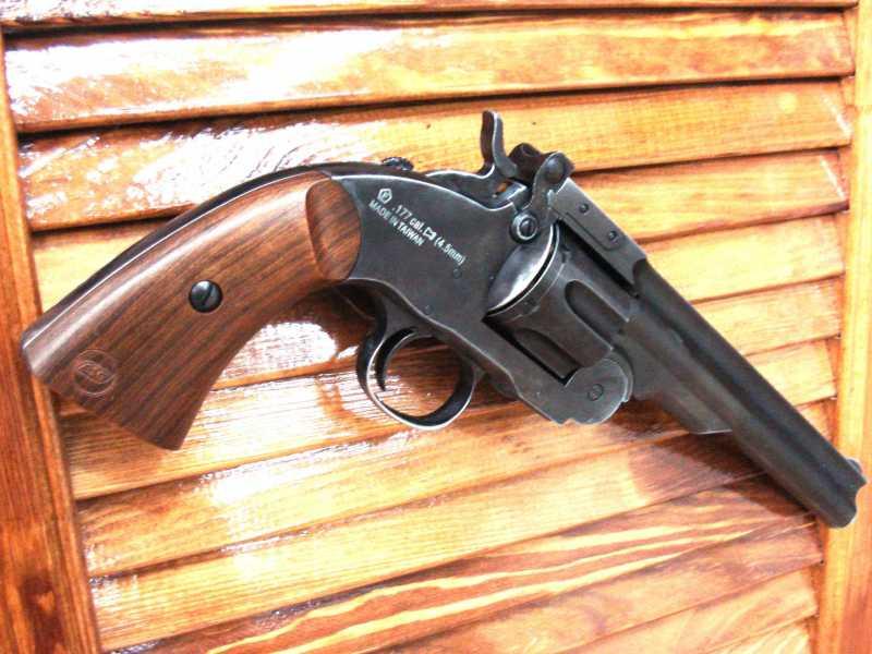 8)Пневматический пулевой револьвер ASG Schofield-6, его достоинства и недостатки