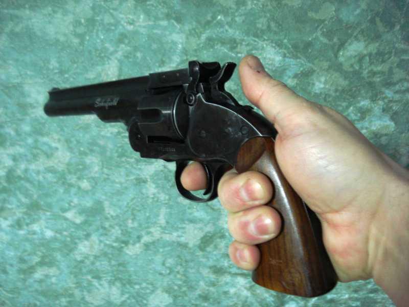 9)Пневматический пулевой револьвер ASG Schofield-6, его достоинства и недостатки