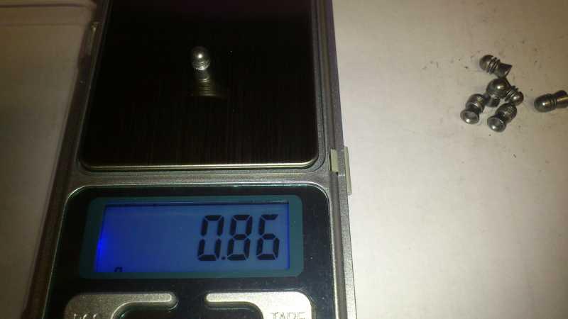 9)Погрешность веса, как одного из важных параметров, пуль для пневматики.