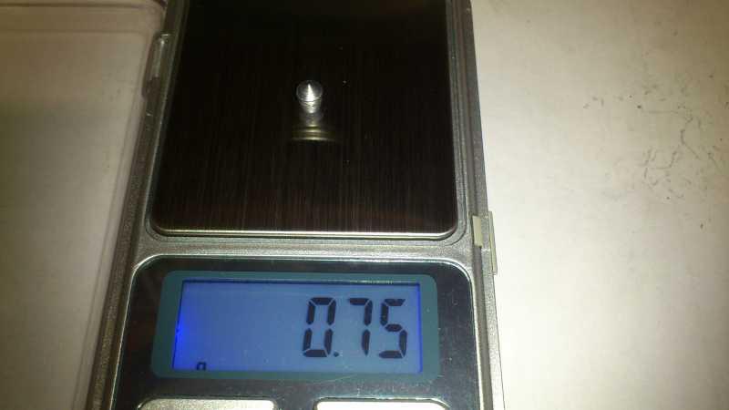 13)Погрешность веса, как одного из важных параметров, пуль для пневматики.