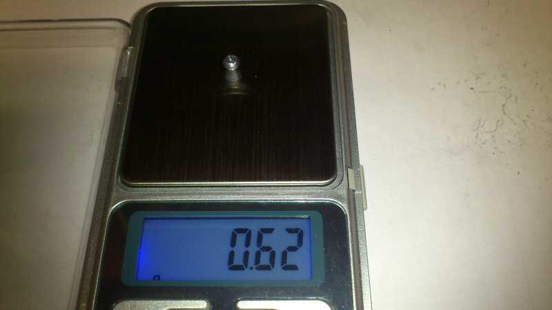 16)Погрешность веса, как одного из важных параметров, пуль для пневматики.