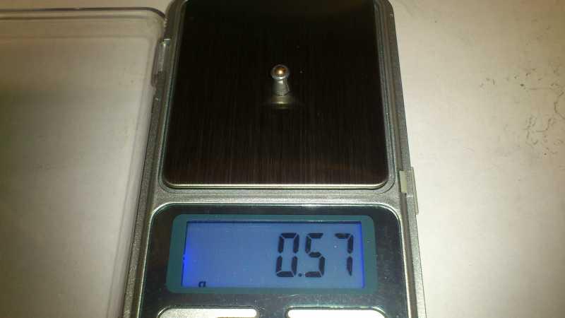 17)Погрешность веса, как одного из важных параметров, пуль для пневматики.