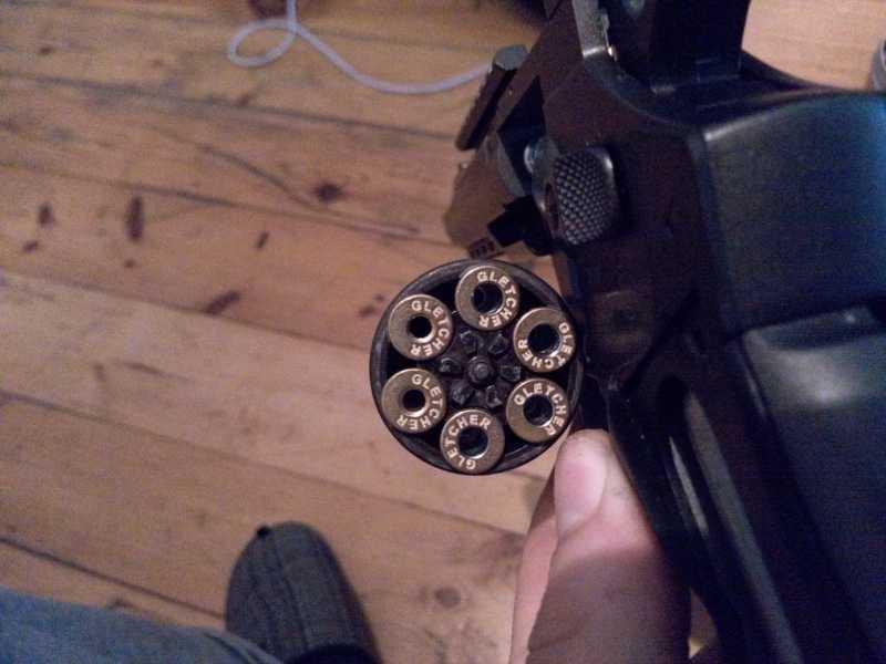 2)Gletcher SW R6 доработка фальш патрон без последствий