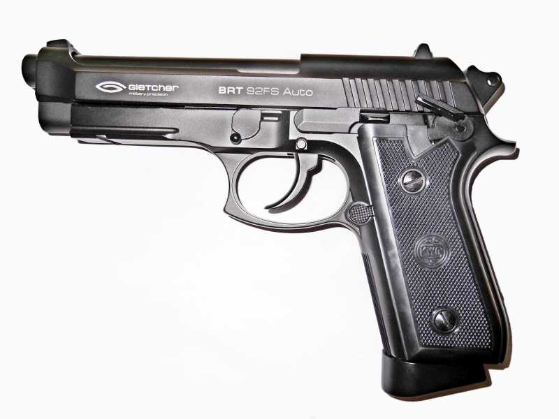 1)Пистолет пневматический Gletcher BRT 92 FS auto