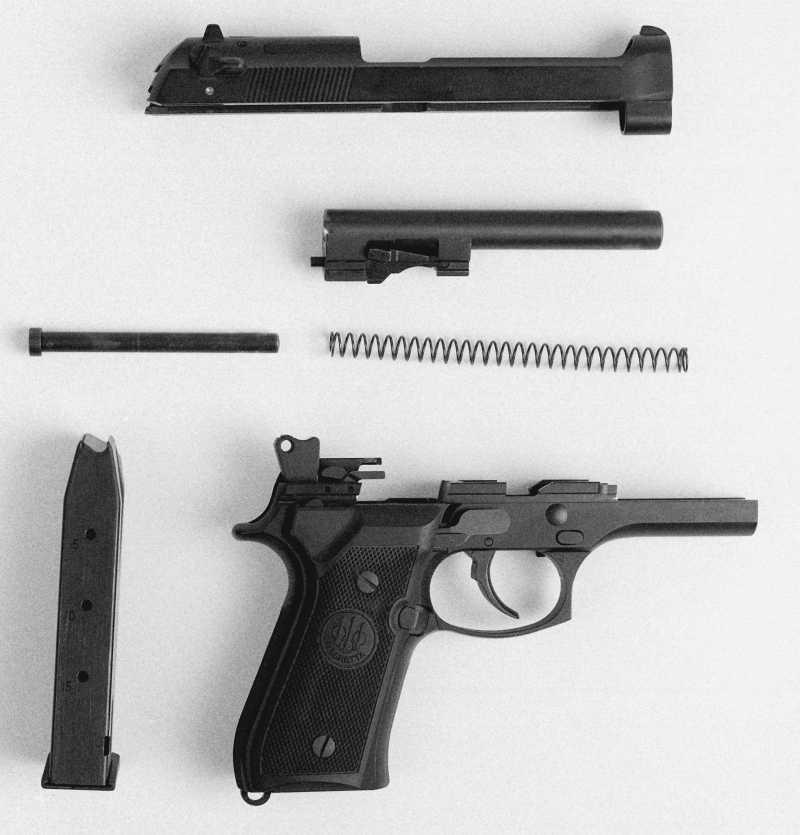 4)Пистолет пневматический Gletcher BRT 92 FS auto