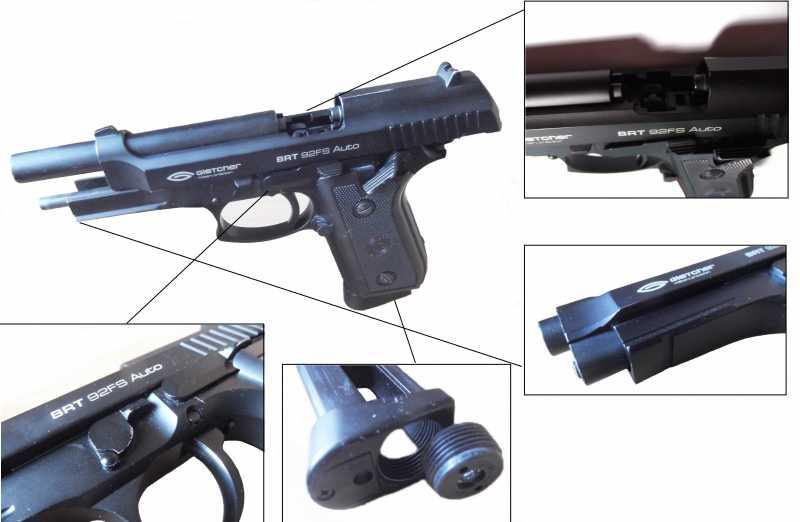 11)Пистолет пневматический Gletcher BRT 92 FS auto