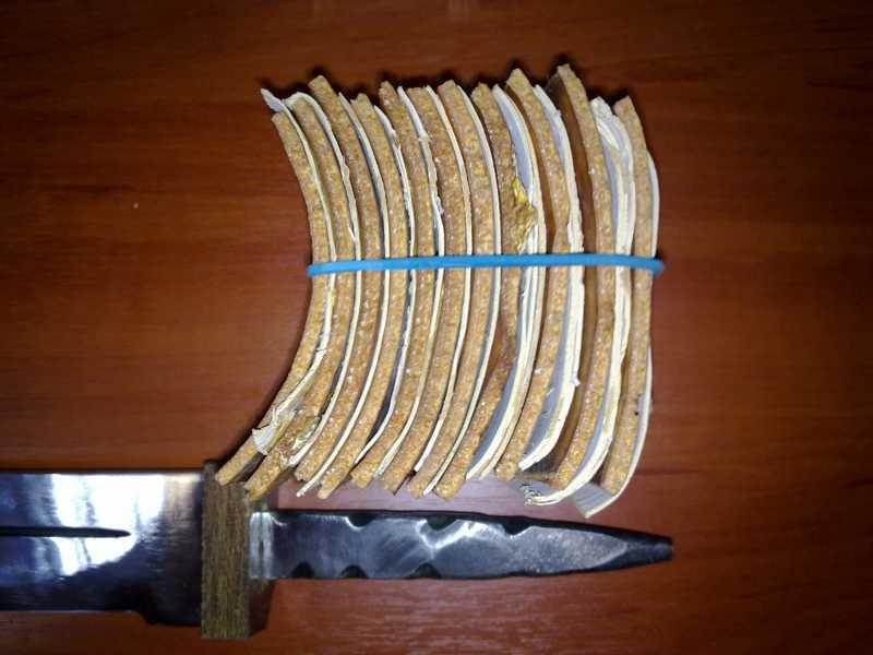 3)Как сделать нож кривыми руками.