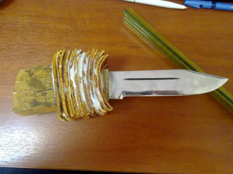 5)Как сделать нож кривыми руками.