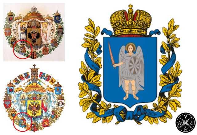 Гербы Украинской губернии
