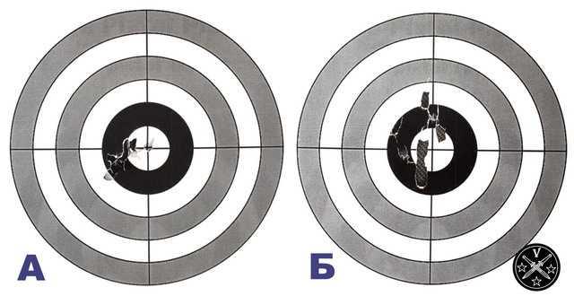 Кучность стрельбы с 5,5 метров