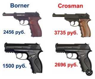 Сравнение цен Crosman и Borner