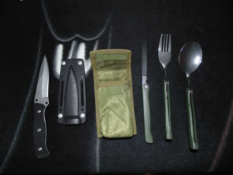 6)Тест различных девайсов в походных условиях (топор, нож)