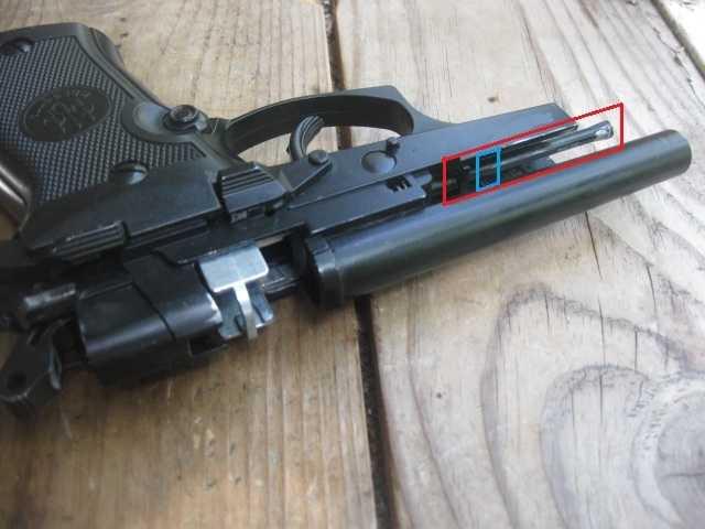 1)Замена демпфера у Beretta 84FS от Umarex.