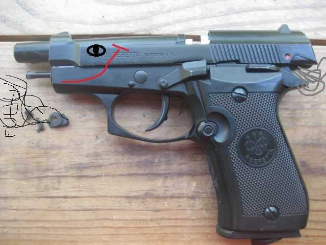 15)Замена демпфера у Beretta 84FS от Umarex.