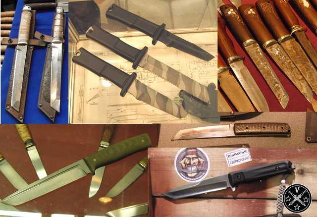 Ножи в стиле танто на выставке