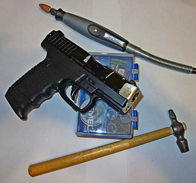 15)Ремонт пневматического пистолета