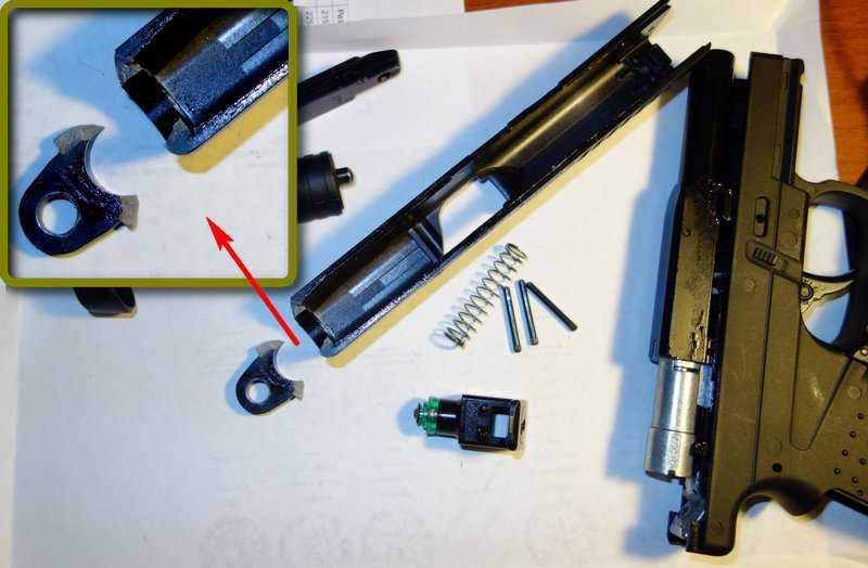 2)Ремонт пневматического пистолета
