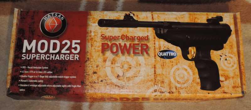 1)Пистолет пневматический Hatsan MOD 25 Super Tactical