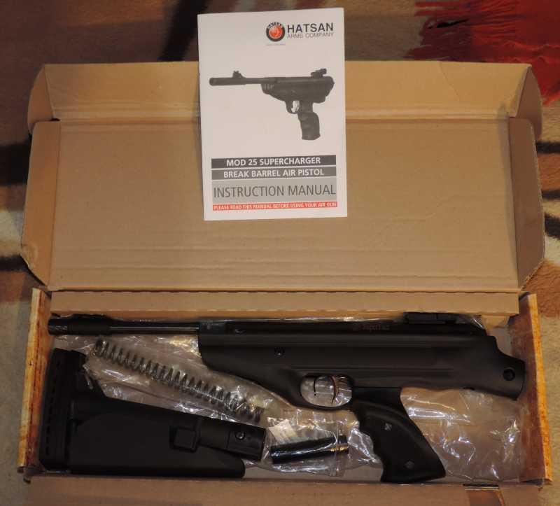 2)Пистолет пневматический Hatsan MOD 25 Super Tactical