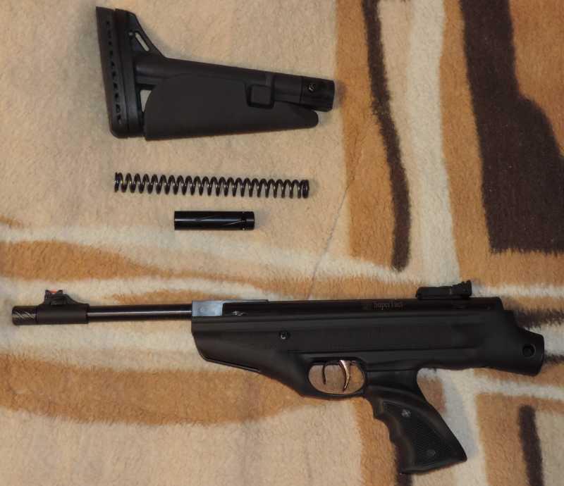 3)Пистолет пневматический Hatsan MOD 25 Super Tactical