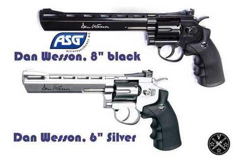Пневматические вевольверы ASG Dan Wesson с нарезнм стволом