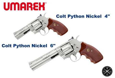 Никелированные револьверы Кольт Питон от Умарекса