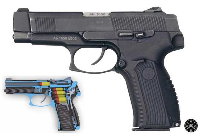 Боевой прототип - пистолет Ярыгина