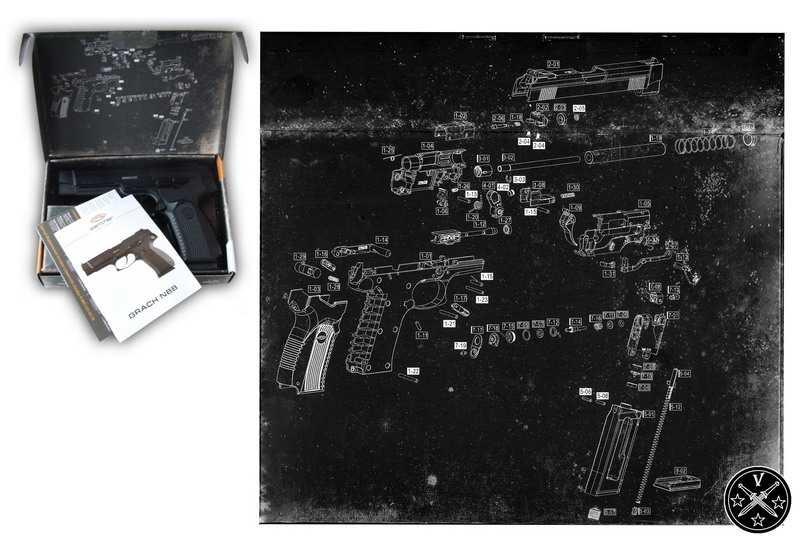 Упаковка пневматического пистолета Грач от Глэтчер