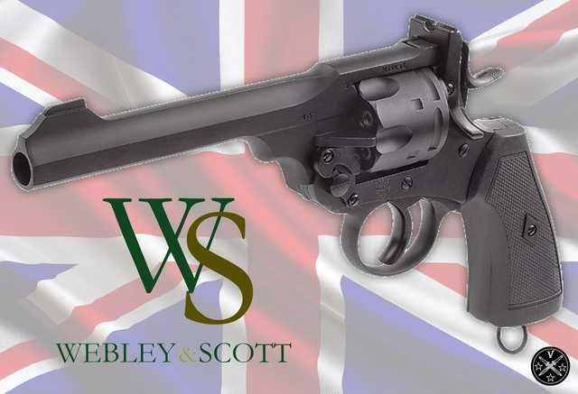 новый пневматический револьвер Веблей