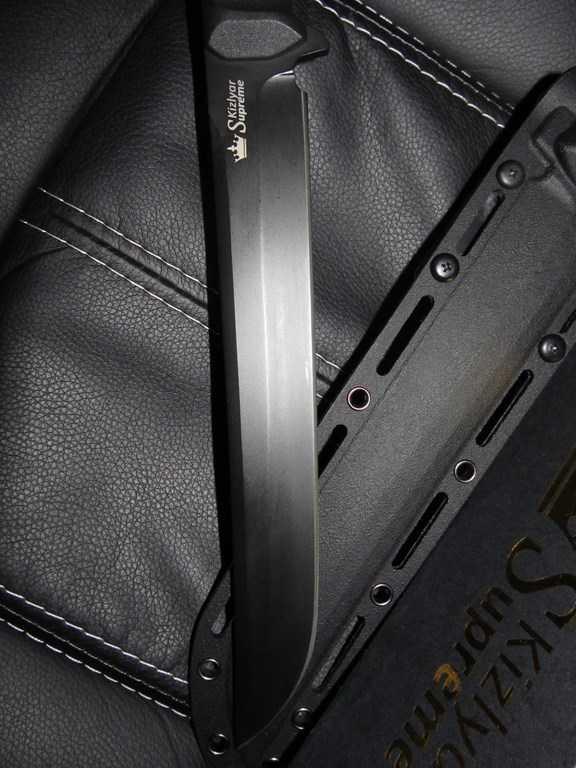 17)Ух Ё! Вот это Кинжал! или Kizlyar Supreme Sensei AUS-8 Black Titanium