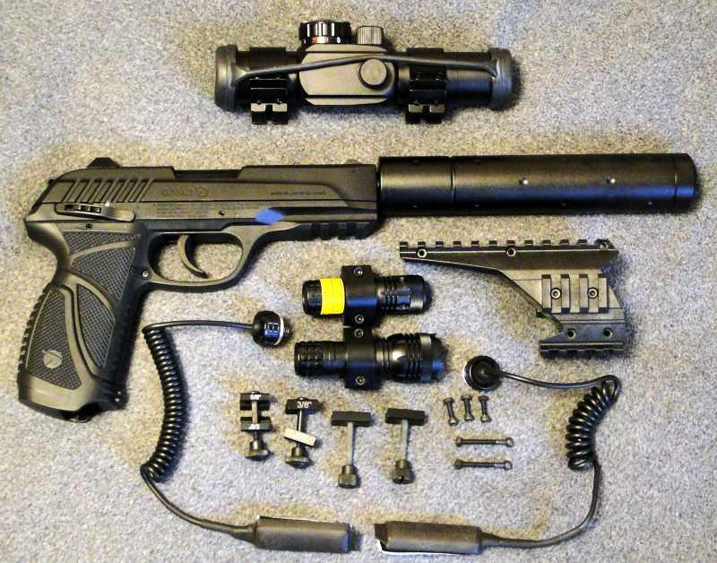 4)Обзор пневматического пистолета GAMO PT-85 Tactical Blowback.