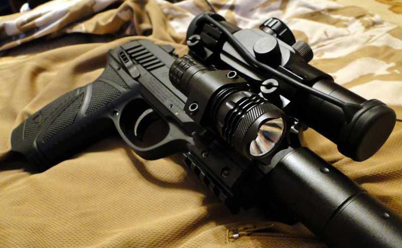 22)Обзор пневматического пистолета GAMO PT-85 Tactical Blowback.