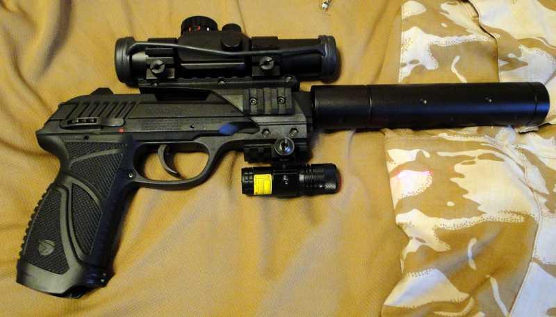 25)Обзор пневматического пистолета GAMO PT-85 Tactical Blowback.