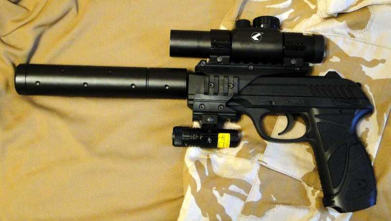 26)Обзор пневматического пистолета GAMO PT-85 Tactical Blowback.