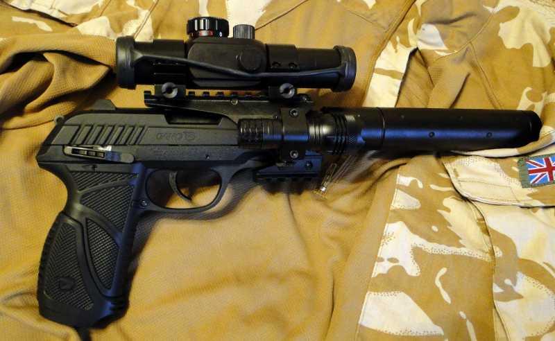 1)Обзор пневматического пистолета GAMO PT-85 Tactical Blowback.