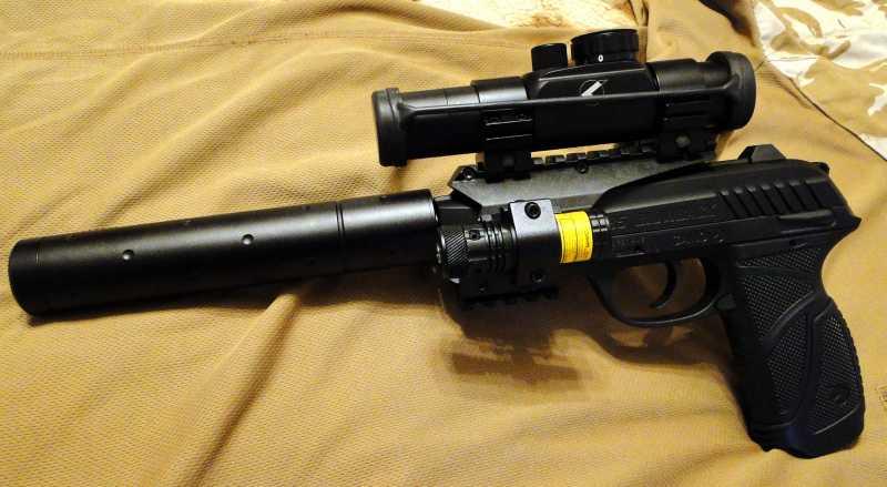 3)Обзор пневматического пистолета GAMO PT-85 Tactical Blowback.