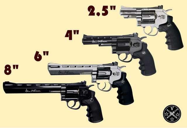 Типоразмеры револьверов