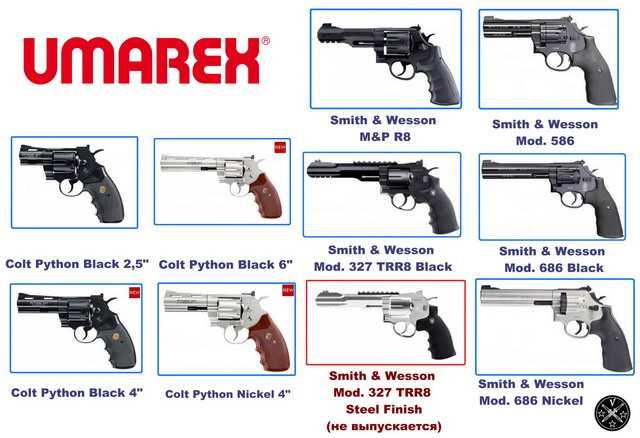 Пневматические револьверы Umarex