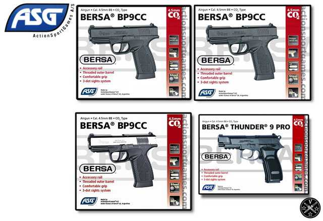 Пневматические пистолеты ASG Bersa