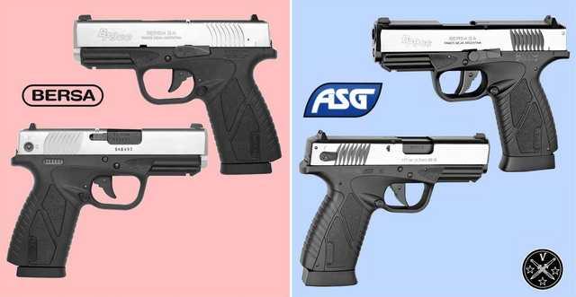 Сравнение двухтоновой модели с огнестрельным прототипом