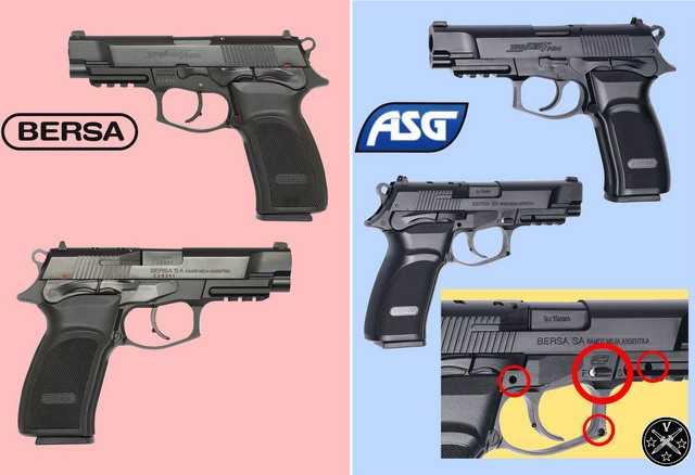 Сравнение пневматики Thunder Pro с огнестрельным прототипом
