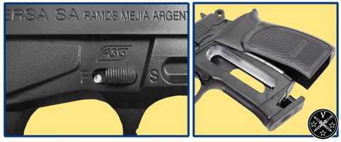 Предохранитель и отсек СО2 модели ASG Thunder Pro
