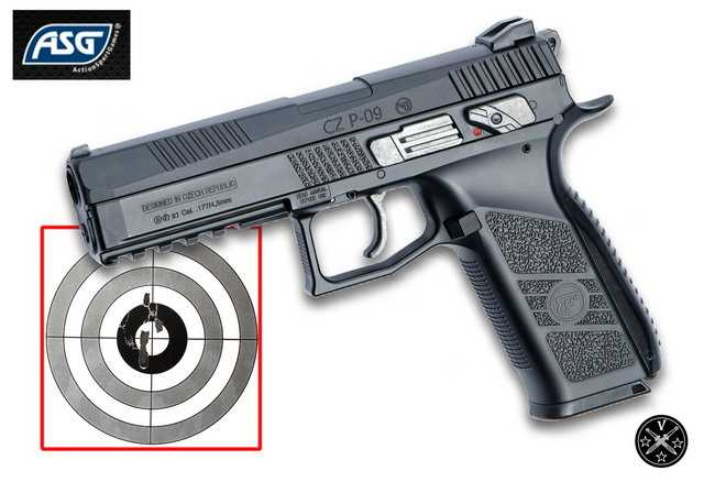 Пневматический пистолет ASG CZ P-09 Pellet