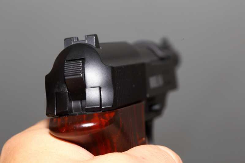 7)Smersh H14, неудачная копия легендарного пистолета.