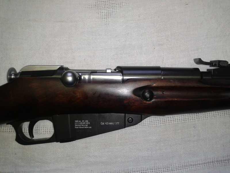 6)Пневматическая винтовка Мосина.