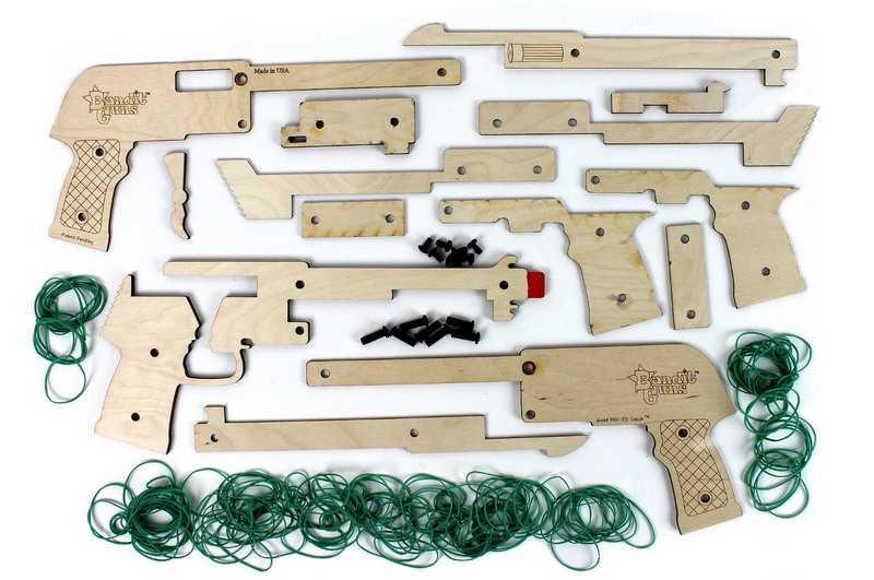 Набор готовых деталей для изготовления резинкострела